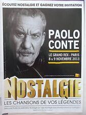 PUBLICITE  RADIO NOSTALGIE   PAOLO CONTE   REF 7793