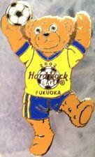 Hard Rock Cafe FUKUOKA 2002 FIFA World Cup Soccer TEDDY BEAR PIN - HRC #12682