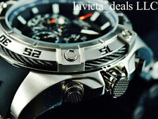 Invicta Men 54mm SPEEDWAY VIPER Gen III Chronograph BLACK DIAL Silver Tone Watch