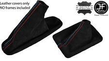 BLACK STITCH SUEDE GEAR&HANDBRAKE BOOT FITS BMW E90 E91 E92 E93 M /// AUTOMATIC