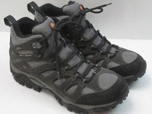 Merrell Moab 2 Ventilator Men's Size 9 Gray Waterproof Hiking Shoes Boots 8161