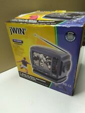 "jWIN JV-TV1010 5"" Analog Black/White TV AM/FM Radio Combo Portable TV NEW NOS"
