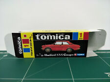 REPRODUCTION BOX for Tomica Black Box No.1 Nissan Bluebird SSS Coupe
