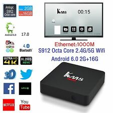KM8 Pro 4K Smart TV Box Amlogic S912 8-Core Android 6.0 2G+16G 2.4G/5G Wifi BT