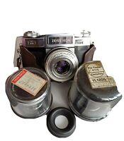 ZEISS IKON Contaflex Super Tessar 50mm 2,8 + Pro Tessar 1:3,2 35mm + 1:4 115mm