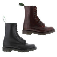 NPS Solovair Made In England Mens 11 Eye Leather Derby Boots Size 8-11