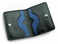 Real Leather Slim Wallet Ultra Slim Credit Card Holder Pocket Case Black 120