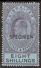 GIBRALTAR 1903 8/- SPECIMEN OVPT SG54s MINT