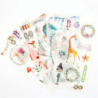 6X animales forestales adhesivo pegatina bricolaje decoración diario papele*ws