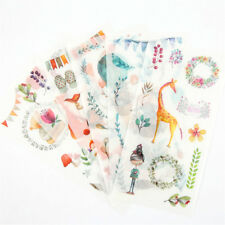 6pcs forests animals Adhesive Sticker DIY Decor Diary Stationery Stickers kid 6D