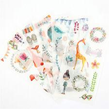 6pcs forest animals Adhesive Sticker DIY Decor Diary Stationery Sticker Gift ESU