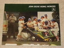 1977 JOHN DEERE 65, 66, 68, & 96 RIDING LAWN MOWERS BROCHURE