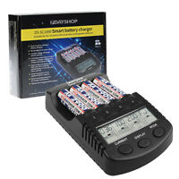 PRO AA AAA NiMH Battery Charger Intelligent Super Fast Multi-Mode LCD Display