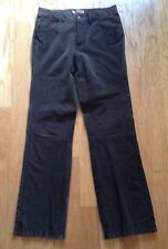 LEE ONE TRUE FIT JEANS SIZE 7/8 100% GENUINE LEATHER/ SUEDE  BROWN