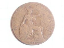 Coin Great Britain Half Penny 1915 Georgivs V Dei Gra:Britt:Omn:Rex Fid:Def:Ind: