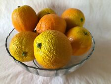 Set Of 11 Artifcial Ceramic Oranges For A Realistic Fruit Table Display