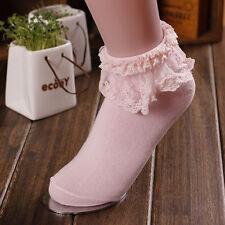 2017 Winter Girl Socks Women Lace Socks Cotton Sock Ankle Socks Fancy Ruffle