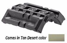 DPR Fab Defense - Polymer Tan Dual Picatinny Rail Ideal for Flashlight & Laser