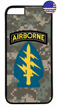 US Airborne Camo Sword Military Forces Case Cover iPhone Xs Max XR X 8 7 6 Plus