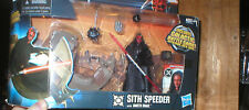STAR WARS SITH SPEEDER WITH DARTH MAUL, INCLUDES GALACTIC BATTLE GAME, UNOPENED