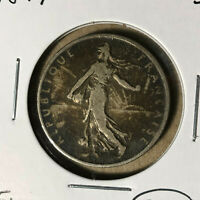 1899 France 2 Francs Silver Coin