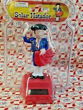 Solar Powered Matador - Spanish Bullfighter in Blue for Car Dashboard or Desk