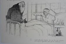 """LITHOGRAPHIE ORIGINALE J.G DOMERGUE""""LA MAIN FRATERNELLE"""" 1915 GUERRE 1914-1918"""