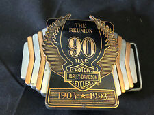 1993 The Reunion 90th Anniversary Harley-Davidson Belt Buckle In Original Tin