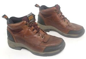 Ariat Womens ATS Terrain Endurance Hiking Camping Boots Brown Leather Size 10