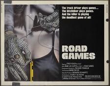 ROAD GAMES 1981 ORIGINAL 22X28 MOVIE POSTER STACY KEACH JAMIE LEE CURTIS