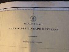 Nautical Chart circa 1949 Atlantic Coast- Cape Sable to Cape Hatteras