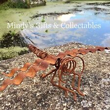 20cm Long Metal Handcrafted Dragonfly Garden Pond Statue Ornament
