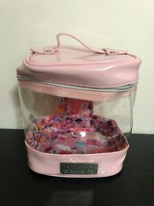2020 Benefit Branded Train Round Travel Case Bag Pink/Clear