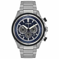 Citizen Eco-Drive Men's CA4240-82L Chronograph Titanium Bracelet 46mm Watch
