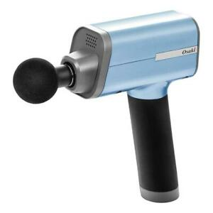 Otamic Series 5-Speed Massage Gun with 4 Replaceable Heads in Blue by Osaki