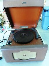1940's TUBE RECORD PLAYER / PHONOGRAPH EMERSON 521 CARRYING CASE & CORD. *RARE*