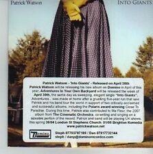 (CV678) Patrick Watson, Into Giants - 2012 DJ CD