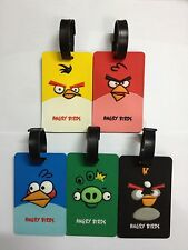 FREE SHIPPING One Set of 5 Angry Bird Travel Luggage Tag ID Holder 3D