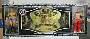 NEW 2006 JAKKS Pacific WWE Championship Belt Matches Batista vs. Rey Mysterio