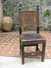 poltrona sedia antica in legno massello per  scrivania ufficio