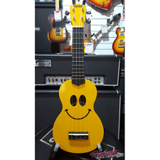 Mahalo Smile Art Series Soprano Ukulele Smiley Face Design with Bag in Yellow