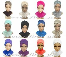 Cotton All Cover Cross Ninja Lace Caps Muslim Inner Islamic Underscarf Hat Hijab
