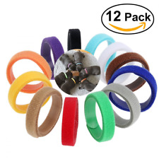 Pixnor 12 Colors Adjustable Puppy ID Bands Collars Whelping Supplies Dog Pet