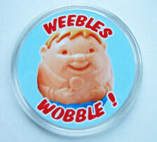 WEEBLES WOBBLE! round drinks COASTER - RETRO CLASSIC!