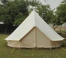 New 5m  bell tent Cotton Canvas 500-Ultimate ZIG zipped in groundsheet heavy PVC