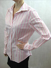 Costume National Size 8 Formal Pink White Stripe Long Sleeve Shirt