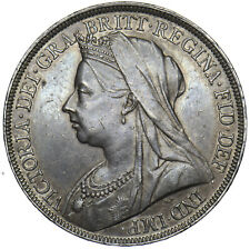 1898 LXII CROWN - VICTORIA BRITISH SILVER COIN - V NICE