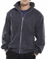 Click Mens Grey Quality Endeavour Micro Fleece Work Jacket Full Zip Fully Lined