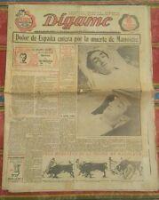 1947 Digame Dolor de España entera por la muerte de Manolete