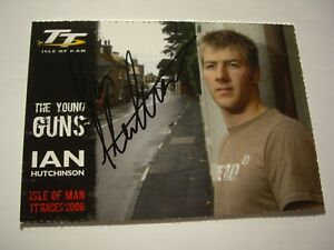 Ian Hutchinson signed 2008 Isle of Man TT young guns official postcard